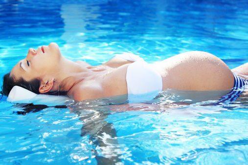 Гимнастика в бассейне для беременных 7